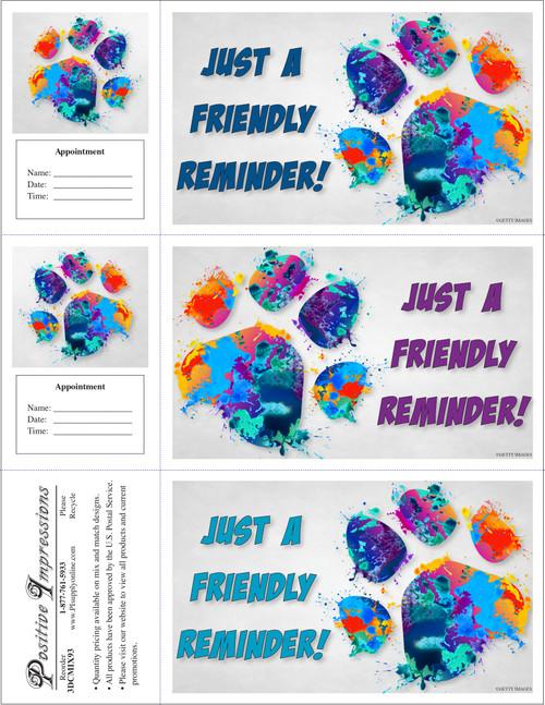 3DCMIX93 - 3 Up Reminder Cards