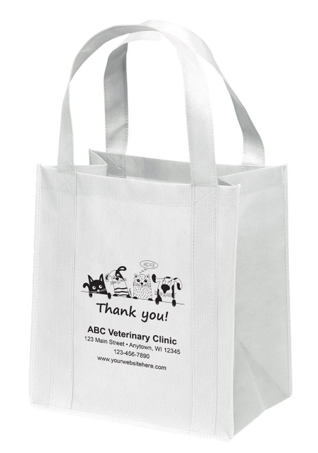 NWL16 - Personalized Non-Woven Tote Bag - 12W x 8 x 13H