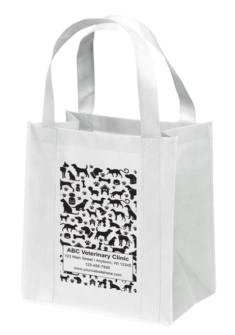 NWS19 - Personalized Non-Woven Tote Bag - 12W x 8 x 13H