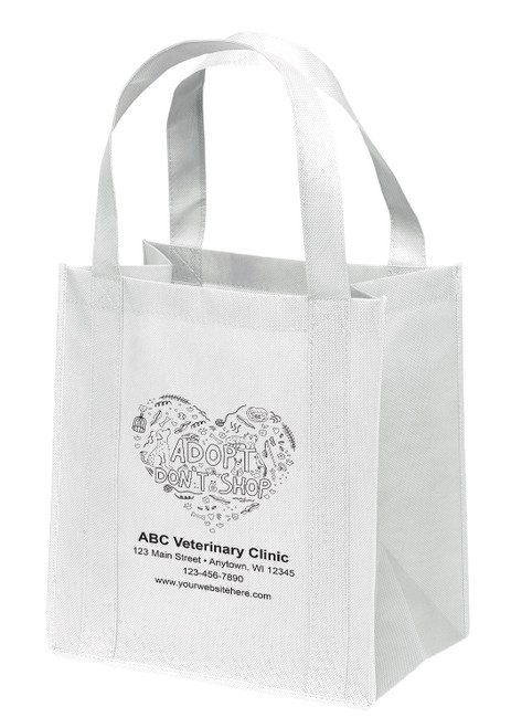 NWS21 - Personalized Non-Woven Tote Bag - 12W x 8 x 13H
