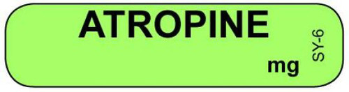 SY-6 Syringe Label - Atropine