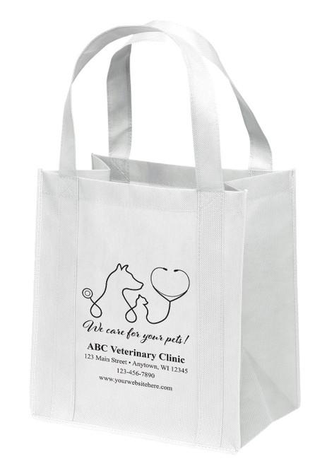 NWB17 - Personalized Non-Woven Tote Bag - 13W x 10 x 15H