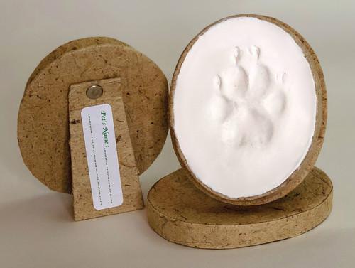 1KIKS -Single  Air Dry Pet Oval Keepsake Impression Kits™