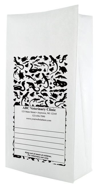 PFL35 - Personalized Flat Bottom Paper Bag (Multiple Imprint Colors Available)
