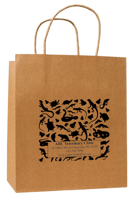 HSD35 - Personalized Handled Paper Bag (Multiple Imprint Colors Available)
