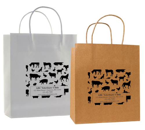 HSD37 - Personalized Handled Paper Bag (Multiple Imprint Colors Available)