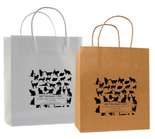 HSD42 - Personalized Handled Paper Bag (Multiple Imprint Colors Available)
