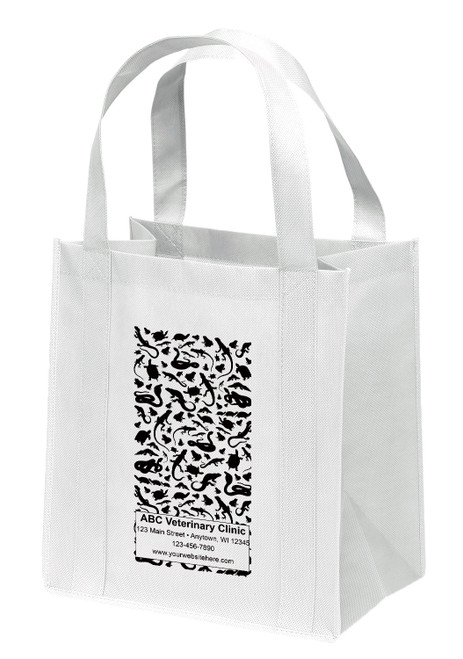 NWS35 - Personalized Non-Woven Tote Bag - 12W x 8 x 13H