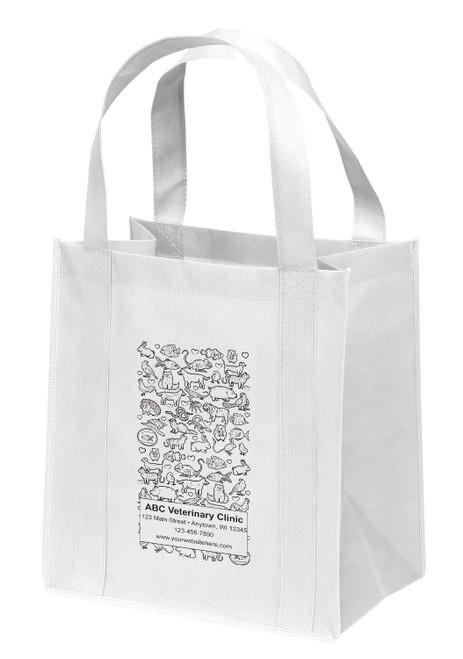 NWS39 - Personalized Non-Woven Tote Bag - 12W x 8 x 13H