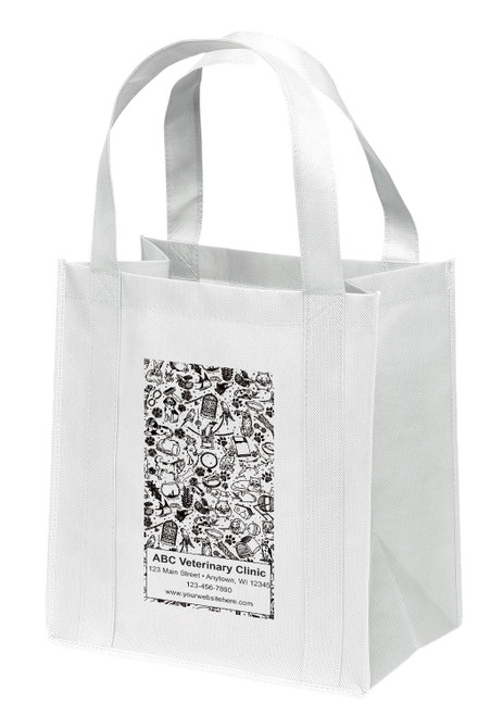 NWS40 - Personalized Non-Woven Tote Bag - 12W x 8 x 13H