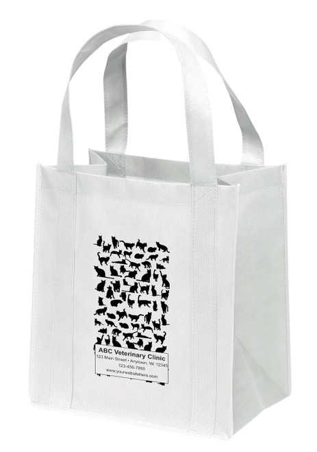 NWS42 - Personalized Non-Woven Tote Bag - 12W x 8 x 13H