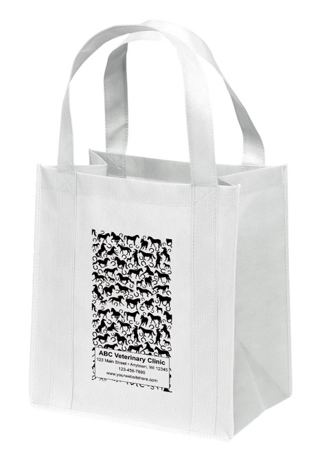 NWL33 - Personalized Non-Woven Tote Bag - 13W x 10 x 15H