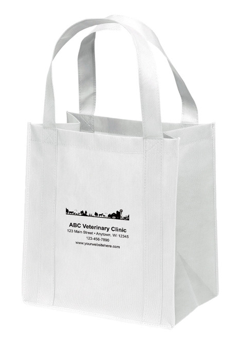 NWL38 - Personalized Non-Woven Tote Bag - 13W x 10 x 15H