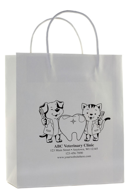 HSD43 - Personalized Handled Paper Bag (Multiple Imprint Colors Available)
