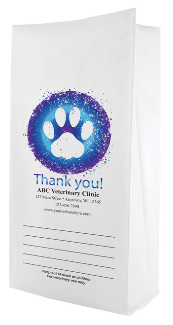 FCPFS7 - Full Color Personalized Small Flat Bottom Paper Bag