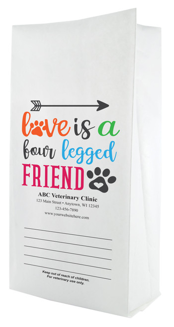 FCPFL15 - Full Color Personalized Large Flat Bottom Paper Bag