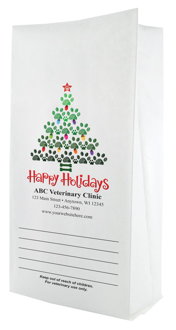 FCPFL25 - Full Color Personalized Large Flat Bottom Paper Bag