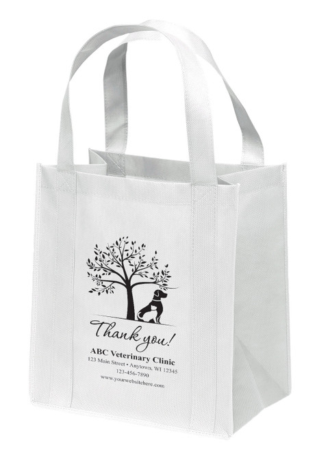 NWS45 - Personalized Non-Woven Tote Bag - 12W x 8 x 13H (Multiple Bag &  Imprint Colors Available)