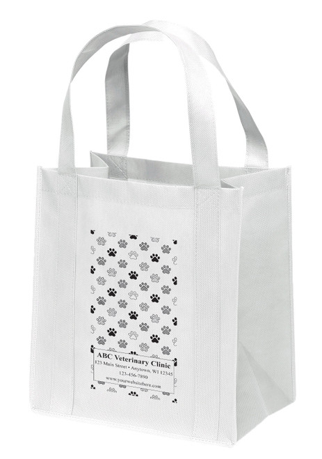 NWL46 - Personalized Non-Woven Tote Bag - 13W x 10 x 15H (Multiple Bag & Imprint Colors Available)