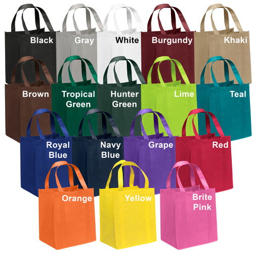 NWL47 - Personalized Non-Woven Tote Bag - 13W x 10 x 15H (Multiple Bag &  Imprint Colors Available)