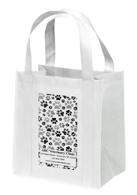 NWL48 - Personalized Non-Woven Tote Bag - 13W x 10 x 15H (Multiple Bag &  Imprint Colors Available)