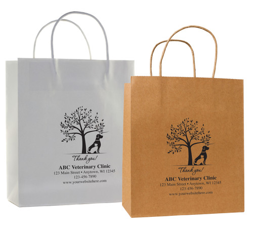 HSD45 - Personalized Handled Paper Bag (Multiple Imprint Colors Available)