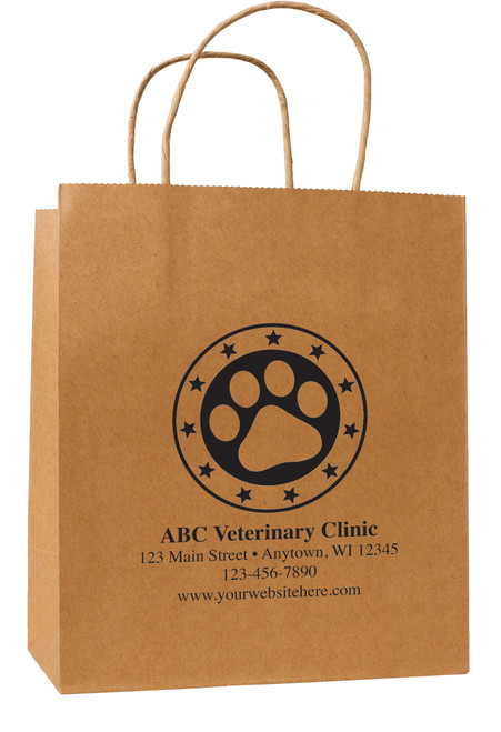 HSD47 - Personalized Handled Paper Bag (Multiple Imprint Colors Available)