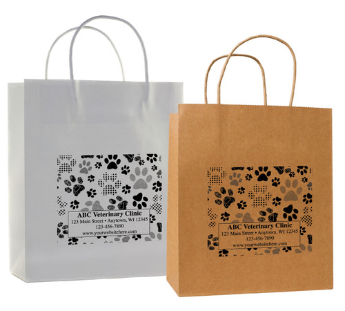 HSD48 - Personalized Handled Paper Bag (Multiple Imprint Colors Available)