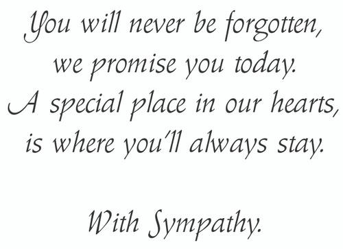 SYMEQ8 - Sympathy Card