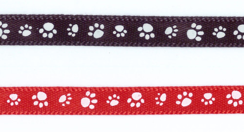 VR1 - Pawprint ribbons (black and red available)