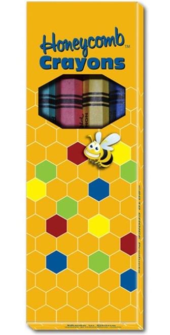 CRAYONS - 4 colors per box, 5 boxes/pack