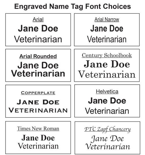 Engraved Font Options