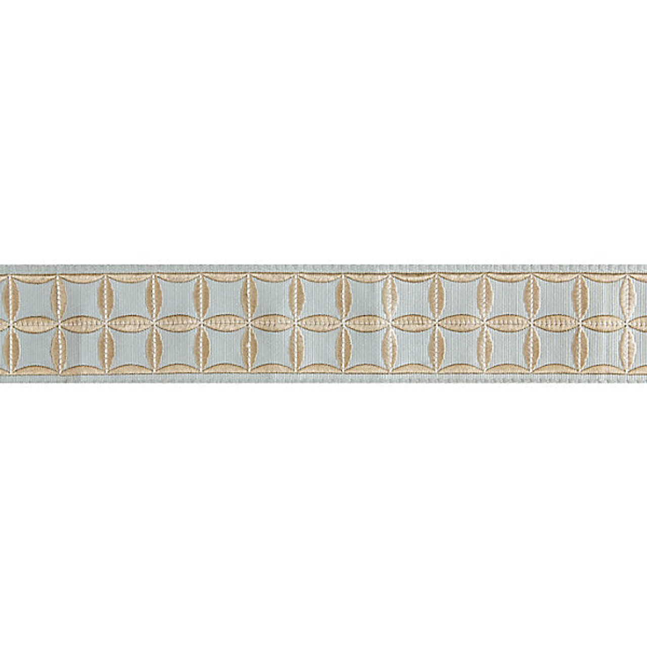 Fiori 66.Fiori Embroidered Tape Aquamarine T3288 004 By Scalamandre Trim