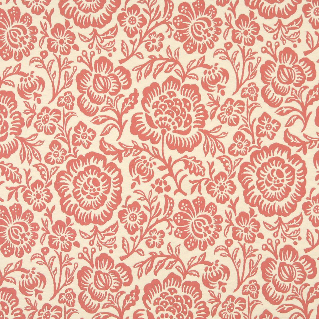 6403 Coral Floral By Charlotte Fabric Fabric Carolina