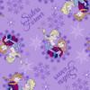 Disney Frozen Sisters Snowflake Flannel Purple