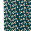Birch Organics Picnic Whimsy Leaves Teal