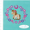 Posh Little Ponies Aqua Panel Knit by Made Whimsy