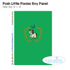 Posh Little Ponies Green Child Panel Knit by Made Whimsy