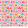 Tree Party Owls Pink Flannel by Riley Blake
