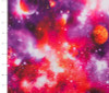 Galaxy Neon Coral and Purple Poly/Spandex Knit