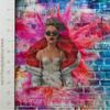 Pink Panel Cotton/Lycra