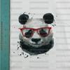 Hipster Panda Panel Cotton/Lycra