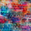 Grunge Vibrant Bricks Cotton/Lycra