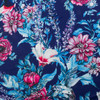 Blue Hummingbird Floral Swim Knit by Made Whimsy