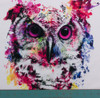 Amazing Watercolor Owl Panel by Riza Peker