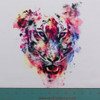 Amazing Watercolor Tiger Panel by Riza Peker
