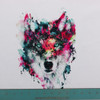 Pre-Order Amazing Watercolor Wolf Panel by Riza Peker