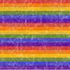 Retro Distressed Rainbow Stripes Knit by Clark Clark
