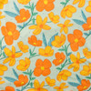 Orange and Aqua Floral DBP Knit by Made Whimsy