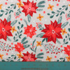 The Lovely Poinsettias Light Grey Knit by Anna Talivrinova